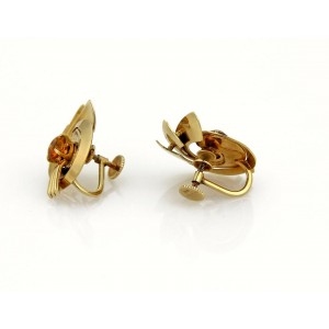 Vintage Tiffany & Co. 2.5ct Citrine 14k YGold Floral Screw Back Earrings