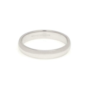 Tiffany & Co. Platinum 4mm Wide Dome Wedding Band Ring Size 11.25