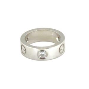 Cartier Love 3 Diamond 18k Gold 5.5mm Band Ring Size EU 48-US 4.5 w/Cert.