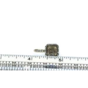 Modern 4.50ct Black  White Diamond 18k White Gold Hook Dangle Solitaire Earrings
