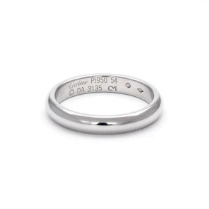 Cartier Platinum 3.5mm Wide Dome Band Ring Size 54 US 7 w/Cert