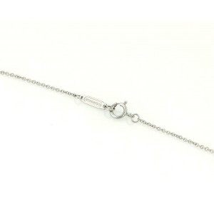 Tiffany & Co. Metro Pink Sapphire 18k White Gold Mini Heart Pendant & Chain