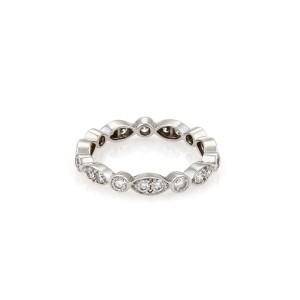 Tiffany & Co. JAZZ Diamond Platinum Band Ring Size - 5.5  Ret:$4,700