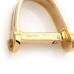 Cartier 18k Tri-Color Gold Oval Shape Flex Cufflinks