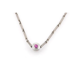 Tiffany & Co.  Picasso Diamond & Pink Sapphire 18k Gold Reversible Necklace