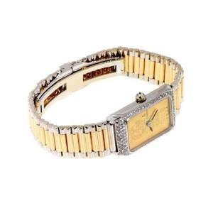 Corum Vintage Swiss 999 Gold Ingot Diamond Wind Ladies Watch