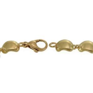 "Tiffany & Co. Peretti 18k Yellow Gold 14 Bean Link Bracelet 7.75"" Long"