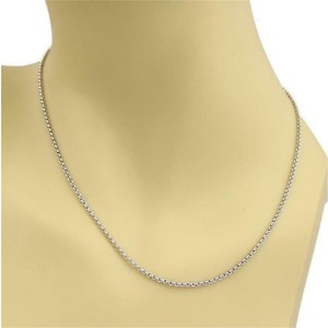 """Chopard 18k White Gold Round Link Chain 16.75"""" Long"""