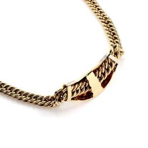 Vintage 12.95ct Diamond Emerald & Ruby 14k Gold Slider Pendant Necklace