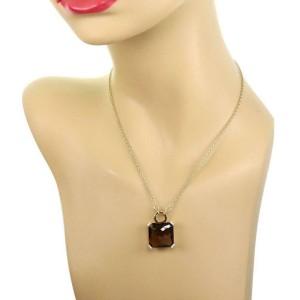 Ippolita Smoky Quartz & Diamond 18k Yellow Gold Pendant & Chain