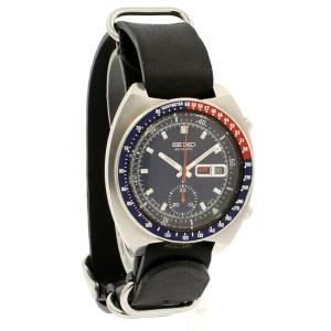 Vintage Seiko Pepsi Bezel Automatic Chronograph Blue Dial Men's Watch