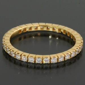 Bulgari Bvlgari Full Eternity Diamonds Ring in 18k Yellow Gold US3.75 EU45
