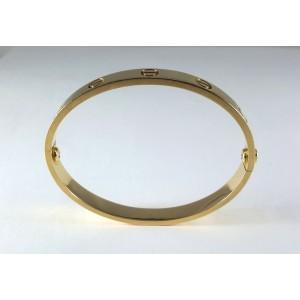 Cartier Love 18K 750 Yellow Gold Bangle Bracelet Size 16