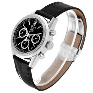 Tag Heuer Carrera Black Dial Chronograph Steel Mens Watch CV2113