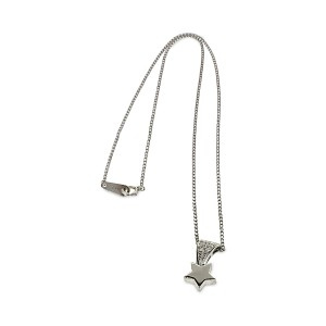 Dior Platinum Diamond Star Necklace