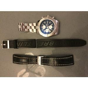Breitling Super Avenger Stainless Steel & Blue Dial 48mm Mens Watch