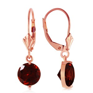 3.1 CTW 14K Solid Rose Gold Garnet Fantasy Earrings