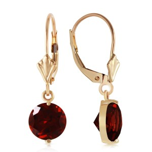 3.1 CTW 14K Solid Gold Prettygirl Garnet Earrings
