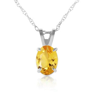 0.85 CTW 14K Solid White Gold Most Lasting Scitrine Necklace
