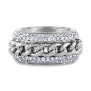 Piaget 18K White Gold Diamond Ring Size: 6