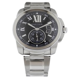 Cartier Calibre de W7100016 Automatic Stainless Steel Black Dial Watch