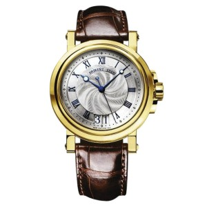 Breguet 5817ba/12/9v8 Marine Automatic Big Date 18K Yellow Gold  B&P Watch
