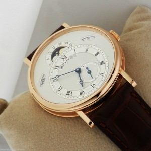 Breguet 7337br/1e/9v6 Classique Day Date Moonphase 18K Rose Gold Watch