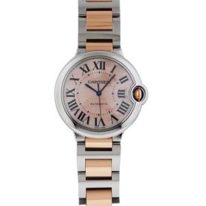 Cartier Ballon Bleu Automatic Stainless Steel & Rose Gold W6920033 36.6mm Watch