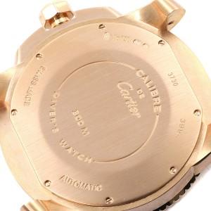 Cartier Calibre Rose Gold Black Dial Automatic Mens Watch W7100052