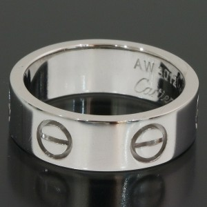 Cartier Love Ring in 18k White Gold US5