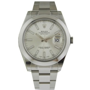 Rolex 116300 Datejust II 41mm Stainless Steel Silver Stick Index Watch