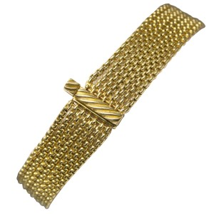 David Yurman 18K Yellow Gold Diamond Multi Box Chain Tassel Bracelet