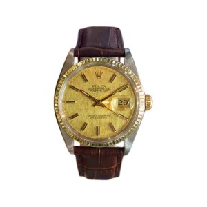 Rolex Oyster Perpetual Datejust Stainless Steel Yellow Gold Watch