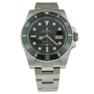 Rolex 116610LV Submariner 40mm Stainless Steel Green Ceramic Bezel Watch