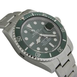 Rolex 116610LV Submariner 40mm Stainless Steel Green Ceramic Bezel Watch