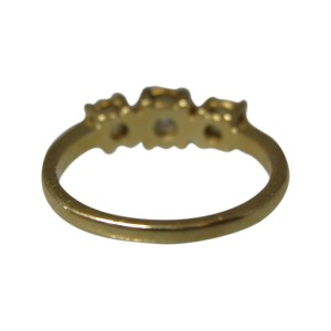 14K Yellow Gold Diamond Ring Size 6.25