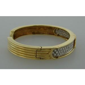 Cartier Yellow Gold Diamond Bangle Bracelet