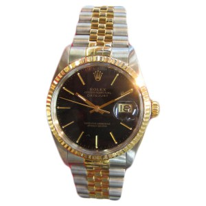 Vintage Rolex Oyster Perpetual Datejust 36mm Two-Tone Watch