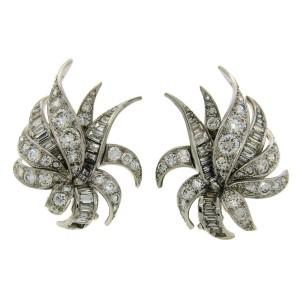Chaumet Diamond Platinum Cluster Earrings