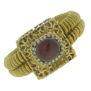Pierre Sterle Gems Yellow Gold Watch Bracelet