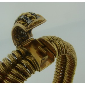 Pierre Sterle Gems Yellow Gold Watch Bracelet