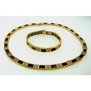 Van Cleef & Arpels Necklace & Bracelet Mother Of Pearl Diamond Gold Set Original