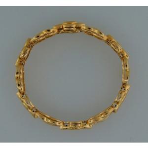 Van Cleef Arpels 18k Yellow Gold Elegant Chic Diamond Bracelet