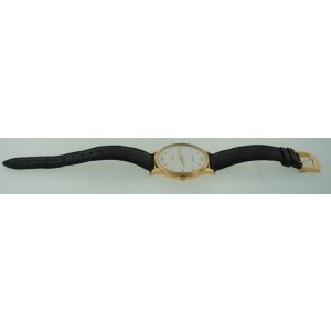 Chopard 18K 750 Gold 750 29 Jewels Geneve 5 Pos Leather Strap Watch