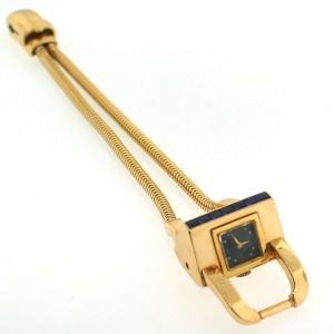 J.E. Caldwell Sapphire Yellow Gold Bracelet Watch 1940s