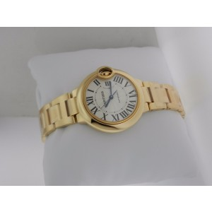 Cartier Ballon Bleu 33mm WGBB0005 18K Yellow Gold Watch