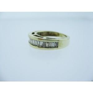 14K Yellow Gold Diamond Baguette Ladies Ring