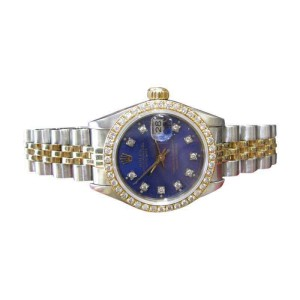Rolex Oyster Perpetual Datejust Diamond Stainless Steel and Gold Ladies Watch
