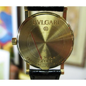 Bulgari 18K Yellow Gold BB 30 GL 30mm Ladies Quartz Watch
