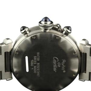 Cartier Pasha Chronograph W31004H3 Quartz Stainless Steel Womens 38mm Watch